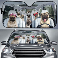 Load image into Gallery viewer, Auto Sun Shade For Pug Lovers Auto Sun Shades