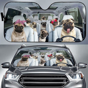 Auto Sun Shade For Pug Lovers Auto Sun Shades