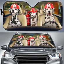 Load image into Gallery viewer, Love Firefighter Auto Sun Shades