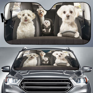 Open image in slideshow, Havanese Auto Sun Shade