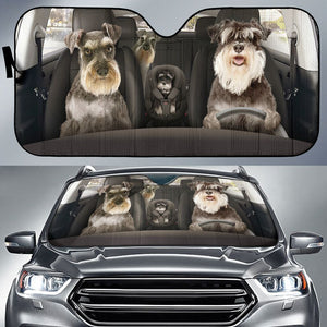 Open image in slideshow, Schnauzer Auto Sun Shade