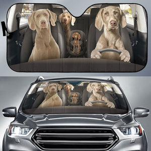 Open image in slideshow, Weimaraner Auto Sun Shade