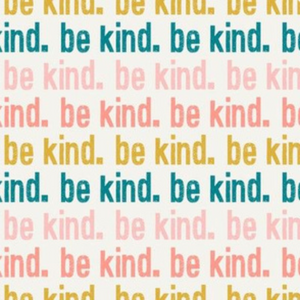 Be Kind. Scrub Cap, Handmade, 100% Cotton, Breathable, Traditional, Bouffant or Ponytail