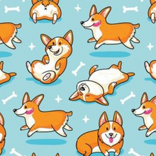 Load image into Gallery viewer, Happy Corgi Scrub Cap, Handmade, 100% Cotton, Breathable, Traditional, Bouffant or Ponytail