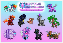 Load image into Gallery viewer, Battle Gem Ponies! - Sticker Set #1