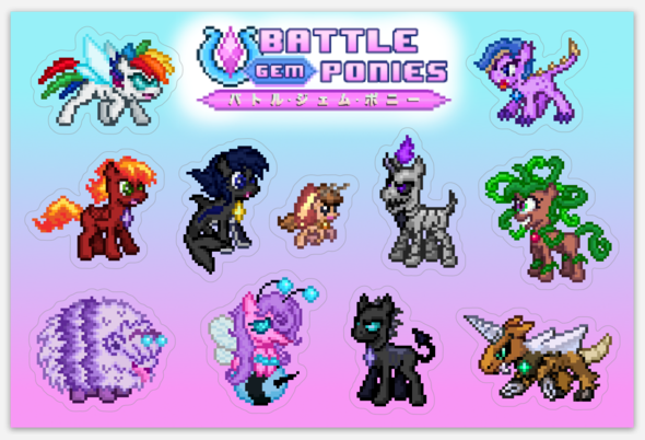 Battle Gem Ponies! - Sticker Set #1
