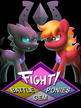 Load image into Gallery viewer, FIGHT! - Battle Gem Ponies Women's Tee