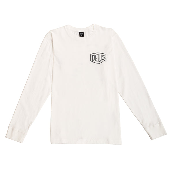 Ibiza Address Long Sleeve Tee - White