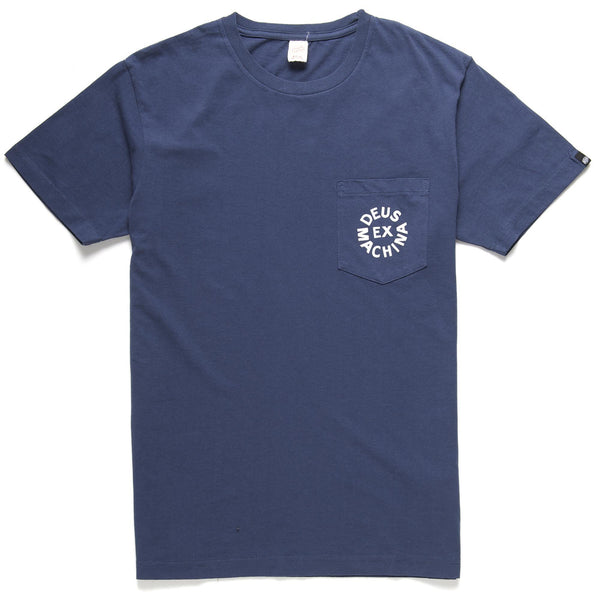 Deus Pocket Logo Tee - Navy