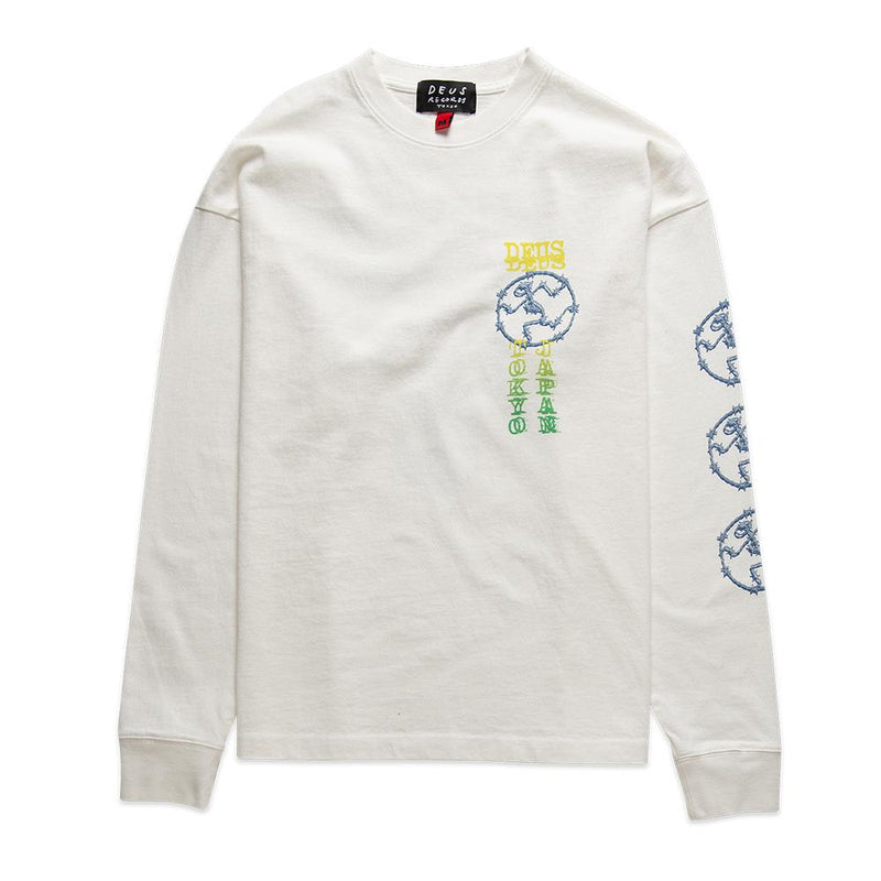 Encryption Long Sleeve Tee - Vintage White
