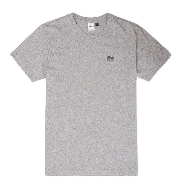 Standard Short Sleeve Embroidered Tee - Grey Marle