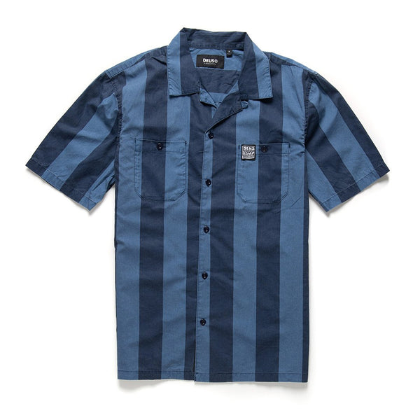 Vertigo Stripe Shirt - Navy Blue