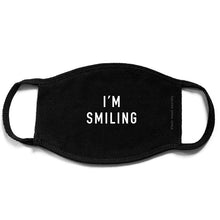 Load image into Gallery viewer, Face Mask - I'm Smiling Cotton Mask