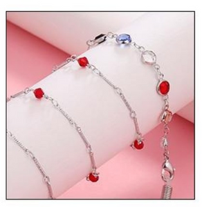 Mask Lanyard with Precious Glass Stones