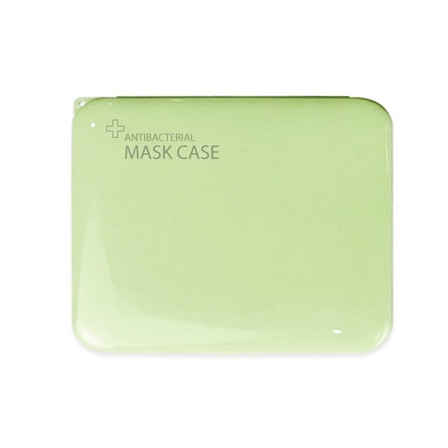 Mask Storage Container - Antibacterial & Portable Storage - Green