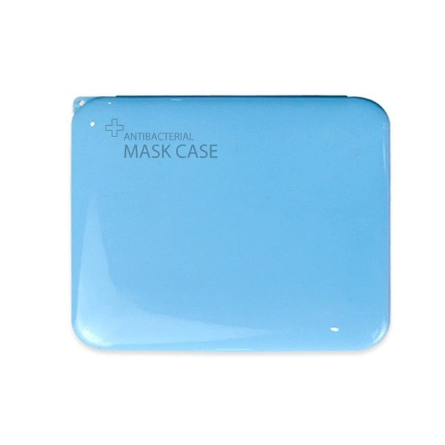 Mask Storage Container - Antibacterial & Portable Storage - Blue