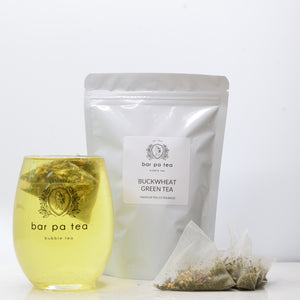 Buckwheat Green Tea - Premium Tea Bags (hot or cold)