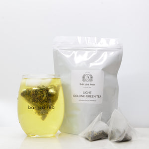 Light Oolong Green Tea - Premium Tea Bags (hot or cold)