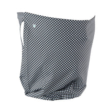 Black Gingham Gaiter