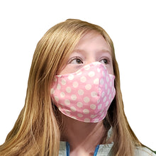 Pink Polka Dot KidZ Face Mask