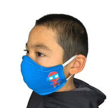 Blue Superhero KidZ Face Mask