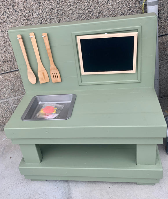Kids Handmade Mud Kitchen - Green