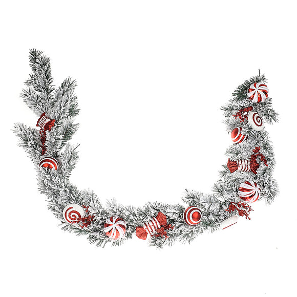Candy Cane Snow Garland 180 cm