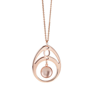 Droplet Rose Gold Plated Oval Pendant