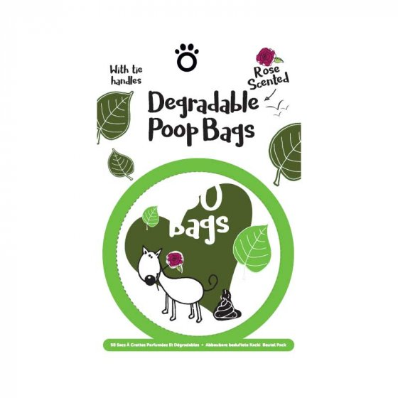 Degradable Scented Poop Bags Pack - 50 Pack