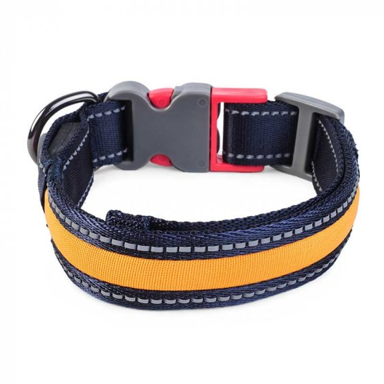 Flash & Go Rechargeable Night Dog Collar - Select Size
