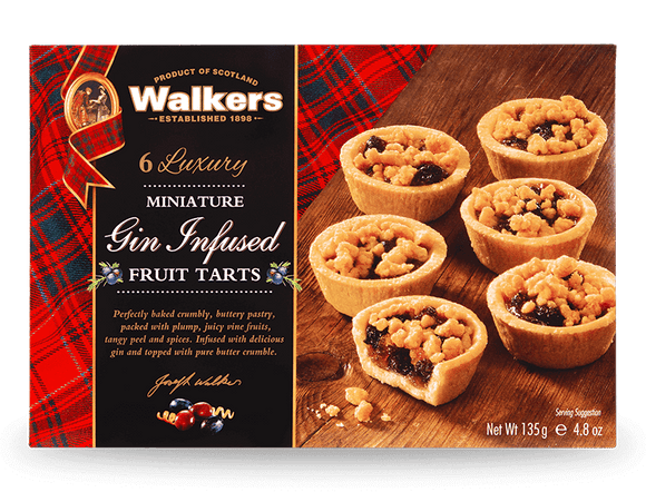 Walkers Miniature Gin Infused Fruit Tarts 135g