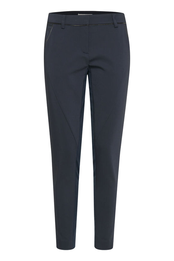 Fransa Navy Suit Trousers