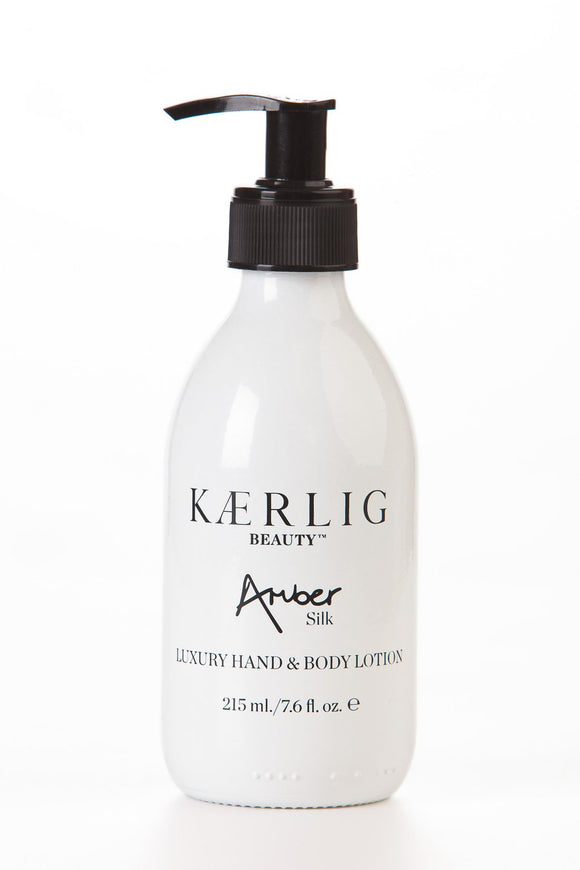 Kaerlig Silk Luxury Hand and Body Lotion - Amber