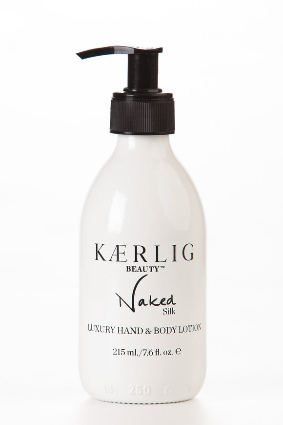 Kaerlig Silk Luxury Hand and Body Lotion - Naked