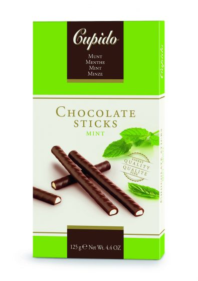 Cupido Mint Chocolate Sticks 125g