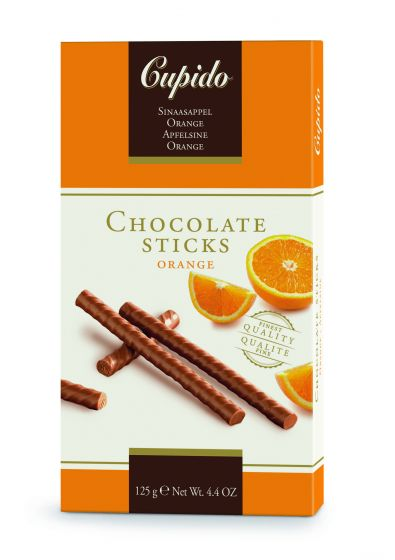 Cupido Orange Chocolate Sticks 125g