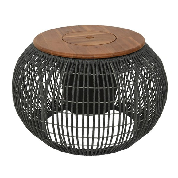 Seville Rope Outdoor Side Table- Grey
