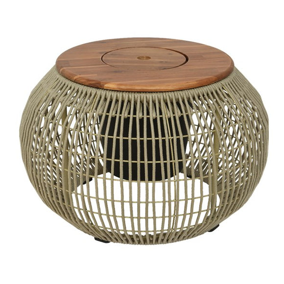 Seville Rope Outdoor Side Table- Beige