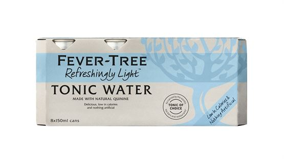 Fever-Tree - Refreshingly Light Tonic Water (Mini Cans) (8x150ml)