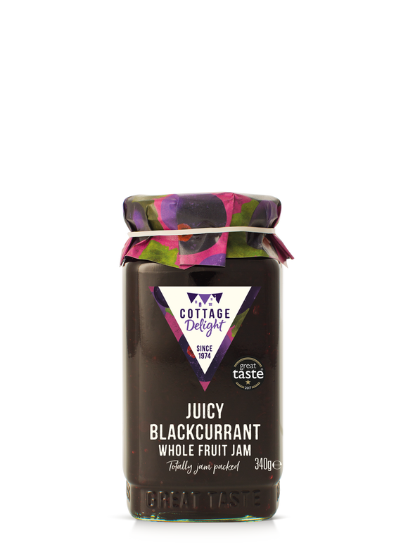 Juicy Blackcurrant Whole Fruit Jam 340g