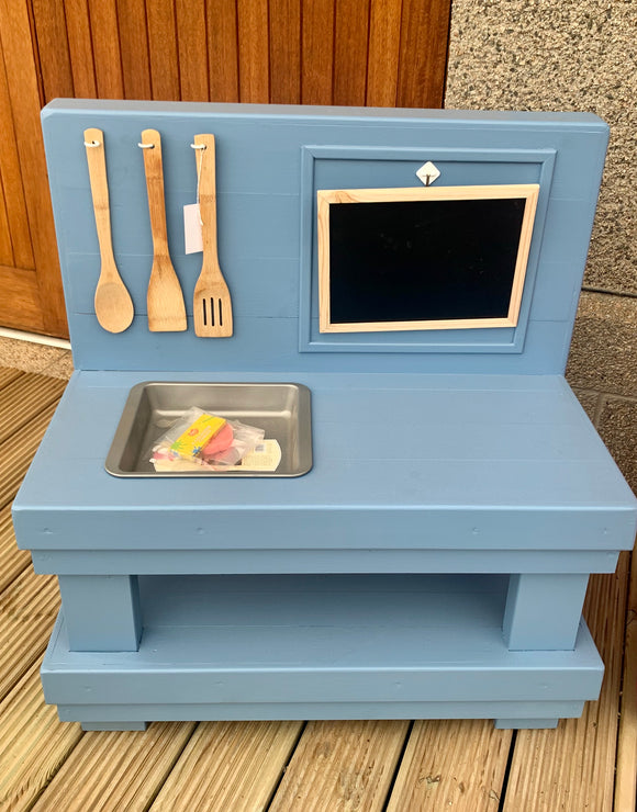 Kids Handmade Mud Kitchen - Blue