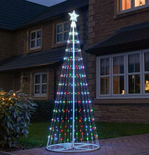 9ft Outdoor Digital Christmas Tree, Multi Colour LEDs