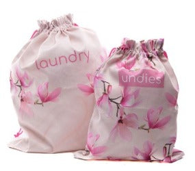 Marbled Magnolia Laundry Bags