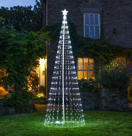 9ft Outdoor Digital Christmas Tree, White LEDs