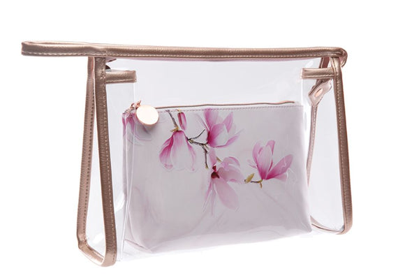 Marbled Magnolia 2-in-1 Travel Bag
