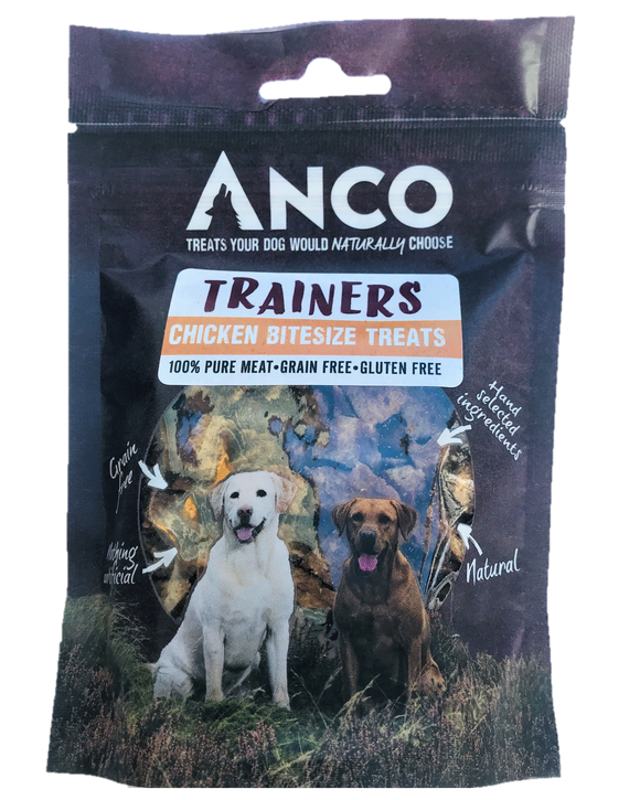 ANCO Trainers Chicken Bitesize Dog Treats 80g