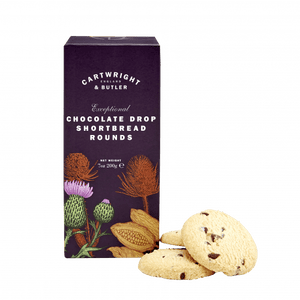 Cartwright & Butler Chocolate Drop Shortbread Rounds Carton 200g