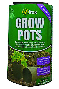Vitax Grow Pots 9cm Round (pack of 12)