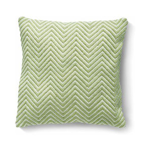 Herringbone Cushion Green