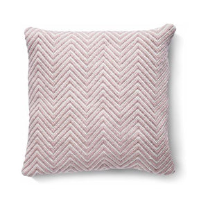 Herringbone Cushion Rose